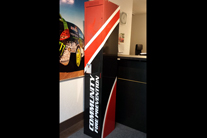 Reception desk wrap