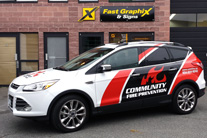 Partial Wrap car graphics Burnaby, Vancouver area