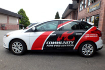 Partial car Wrap car graphics Burnaby, Vancouver area