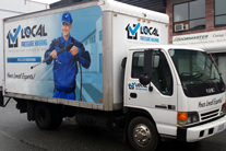 Full truck box wrap, Burnaby, Vancouver area