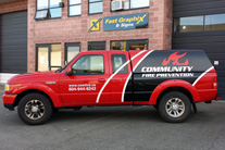 Partial Truck Wrap car graphics Burnaby, Vancouver area